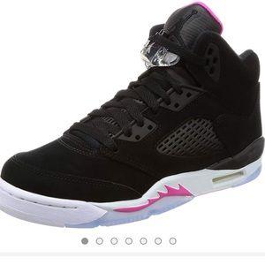 Air Jordan V 5 Retro Black 'Deadly Pink' Sneakers